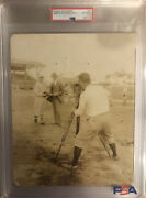 Jimmie Foxx And Connie Mack Original Type 1 Photo 1929🔥incredible Image🔥psa Coa