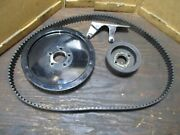 2001 Big Dog Husky Front And Rear Drive Pulley Sprocket With Belt And Guard
