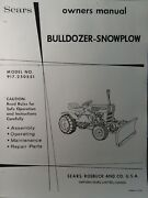 Sears Custom Xl Compact Garden Tractor Dirt Snow Plow Blade Owner And Parts Manual