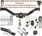 05-07 Ford Escape Trailer Tow Hitch Pkg Deluxe+ Wiring + Security Locks And Cover