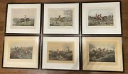 Antique 19thc 6 Hunting Scenes Prints Framed And Matted H.allen / J.harris