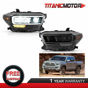 Left And Right Side Led Reflector Headlights Assembly For Toyota Tacoma 2015-2020