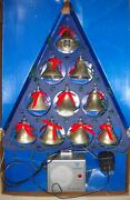 Mr Christmas 10 Musical Lighted Silver Bells Of Christmas 15 Songs 1990, Vintage
