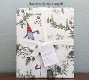 New Pottery Barn Forest Gnome Organic Cotton King Sheet Set Sold Out Christmas