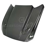 For Ford Mustang 15-17 Type-cj Style Gloss Carbon Fiber Double Sided Hood