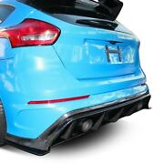 For Ford Focus 2016-2018 Anderson Composites Gloss Carbon Fiber Rear Diffuser