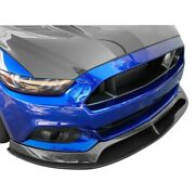For Ford Mustang 15-17 Type-ar Style Gloss Carbon Fiber Front Chin Splitter