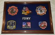 New York City Fire Dept Gone But Not Forgotten Patch Plaque 9-11-01 Display Case