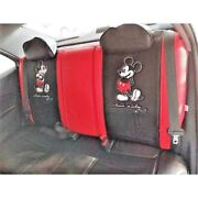 Mickey Mouse Rear Car Seat Cover Premium Limited Edition Red, Licensed, Superb