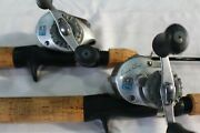 Genz Predator Ice Fishing Stix - Lot Of 2. Vintage Rod And Reel Combo. 42 Med/hy