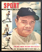 1948 Sport Magazine Baseball Babe Ruth Pictured Cover Autographed By Ralph Kiner