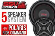 Ssv Works 5 Speaker Plug-and-play Kit For Polaris Ride Command Systems