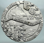 1969 Poland Wwii Free Polish Forces Rare Resistance Germans Silver Medal I87363