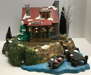 Dept 56 Village Accessories Sounds Of The North Woods With Pinewood  Log Cabin
