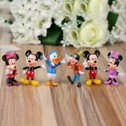 6pcs Disney Studio Mickey Mouse Clubhouse Minnie Donald Figure Toys Cake Toppers