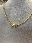 14k Pandora Necklace Authentic 17.5andrdquo 39g Yellow Gold Snake Barrel Clasp
