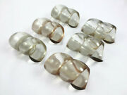 Vintage Set Of 6 Lucite Acrylic Spiral Twist Twisted Napkin Rings Retro Mcm