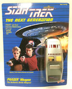 Star Treknext Generation 1988 Galoob Phaser- Mint On Card- Sealed Case Of 24