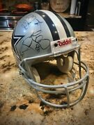 Dallas Cowboys Signed Helmet By Starting Offense Of 1994 Super Bowl Champions