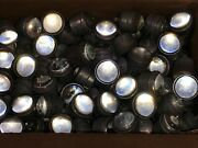 Old Vintage 10 Lot Clear Glass Marble Cat Eye Reflectors Signs Large Rr Street