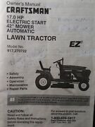 Sears Craftsman 17.0 Hp 42 Hydro Lawn Tractor 917.270722 Owner And Parts Manual