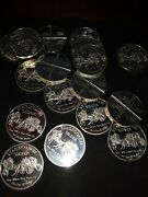 Lot Of 20 Stage Coach 1 Troy Ounce .999 Fine Silver Divisible Into Andfrac14-andfrac14-andfrac14-andfrac14