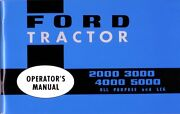 1965 1975 Ford Tractor 2000 3000 4000 500 Owner Manual User Guide Operator Book