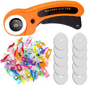 45mm Rotary Cutter With Extra Blades Sewing Clips For Diy Sewing Quilting Set