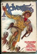 Adventure 5/1937-butterick-jungle Cover By Hubert Rogers-pulp Stories-h Bedfo...