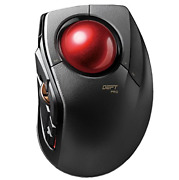 Elecom Huge Wired/wireless/bluetooth Finger-operated Trackball Mouse, 8-button