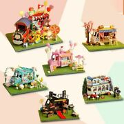 Assemble Mini Car Shop House For Doll With Furniture For Kids Girl Wood Material