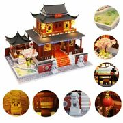 Mini Puzzle Toys Doll House For Kids Wood Materials 3d Chinese Palace Styles New