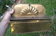 Antique Old Brass Candle Box Candleholder Metal Old Hand Made Original