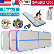 Airtrack Air Track Floor Inflatable Gymnastics Tumbling Mat Gym W/ Pump Usa