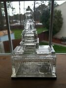 Rare Original Antique 1876 Independence Hall Glass Candy Container Bank Nrmt