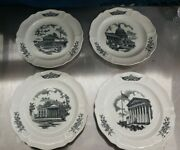 The Federal City Plates 1-4 By Wedgwood And Chas Schwartz -