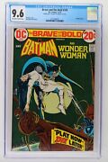 Brave And The Bold 105 - Dc 1973 - Cgc 9.6 - Wonder Woman Double Cover