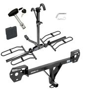 Trailer Hitch For 13-20 Brz 13-16 Fr-s 17-20 86 W/ 2 Bike Rack + Lock And Cover
