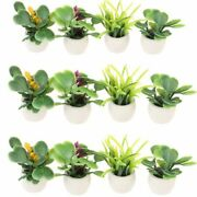 Miniature Green Plants In A Pot For Doll Houses Decorations Plastic Material New