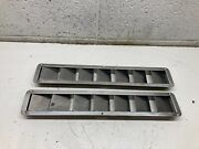 O2 Marine Boat Vent Bilge Blower Exhaust Louvered Stainless Steel Set 17 5/8x3