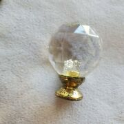26 Faux Crystal Ball Round Plastic Drawer Pulls Cabinet Knobs Used Gold Hardware