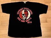 Vtg Hells Angels Support Red And White Nyc T-shirt Xl Only Strong Survive