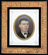 Large Museum-quality Civil War Era Gold Gilt Frame With Mammoth 10x12 Tintype