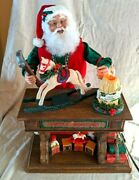 Vtg Holiday Creations 1995 Animated Motion Musical Moving Santa Old Toymaker 20