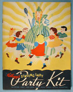 1936 Kelloggand039s Singing Lady Punch-out Party Kit Radio Mail Cereal Premium Unused