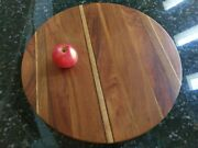 Tony Lydgate Wooden Lazy Susan Wood Turntable Woodworking Artist Vtg 1985 Signed