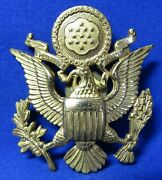 Wwii Gold Plated Army Officer Hat Badge By Amcraft - Acid Test