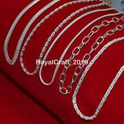 20 Pcs Snake Anchor Cable Design 925 Sterling Solid Silver Necklace Chain Ip1