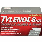Tylenol 8 Hour Muscle Aches And Pain Caplets - 100 Count - 8 Pack