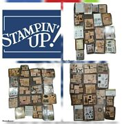 Huge Lot Of 400 Wooden Rubber Stamps Stampin Up Love Animals Up W/ Box Sets